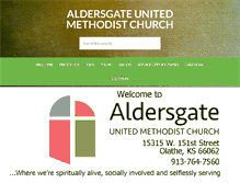 Tablet Preview of aldersgateumc-ks.org